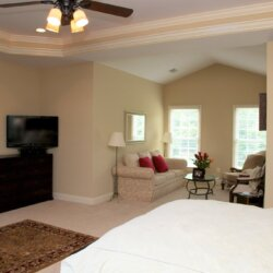 Master bedroom in custom home fairfax VA