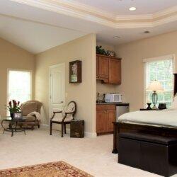 master bedroom in custom home fairfax VA