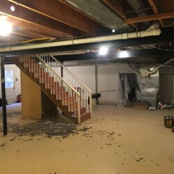 before photo of basement to be remodeled