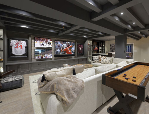 #1 Most Popular Basement Photo on Houzz in 2019 is a Finished Basement by Metro