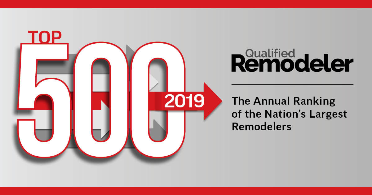 qualified Remodelers top 500 awared