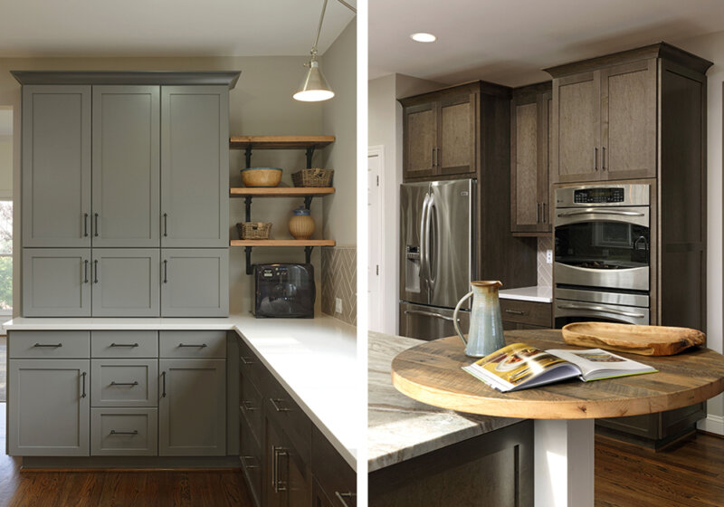 cabinets in custom kitchen
