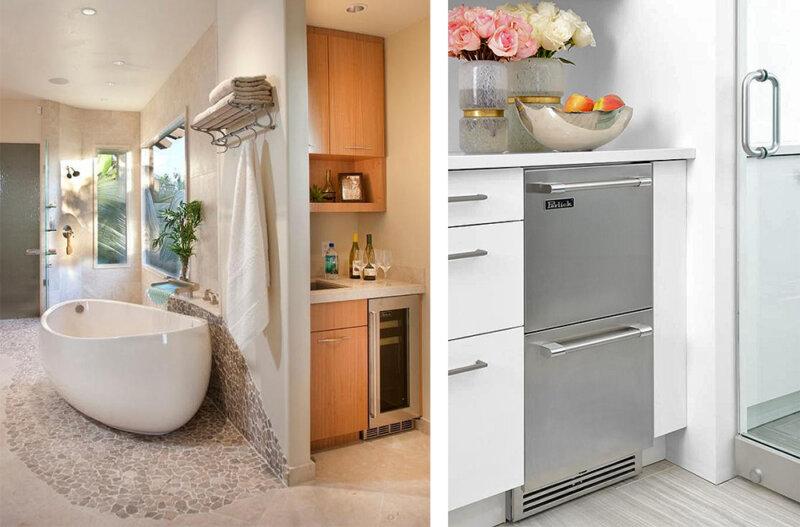 refrigerators in a master bathroom