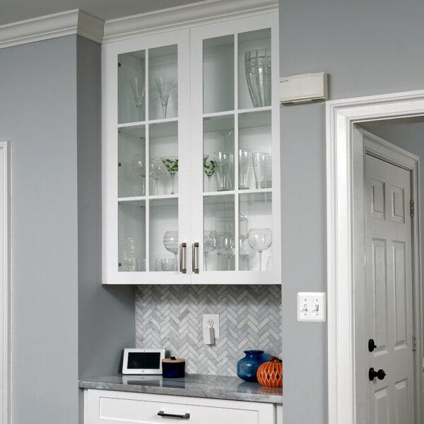 glass front cabinet door