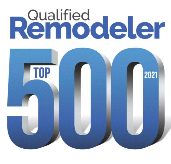 Qualified Remodeler TOP 500 2021 award logo