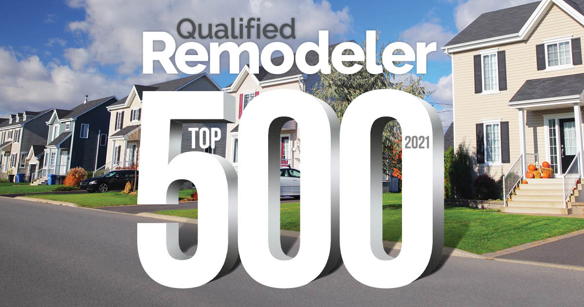 QR TOP 500 List of Remodelers for 2021