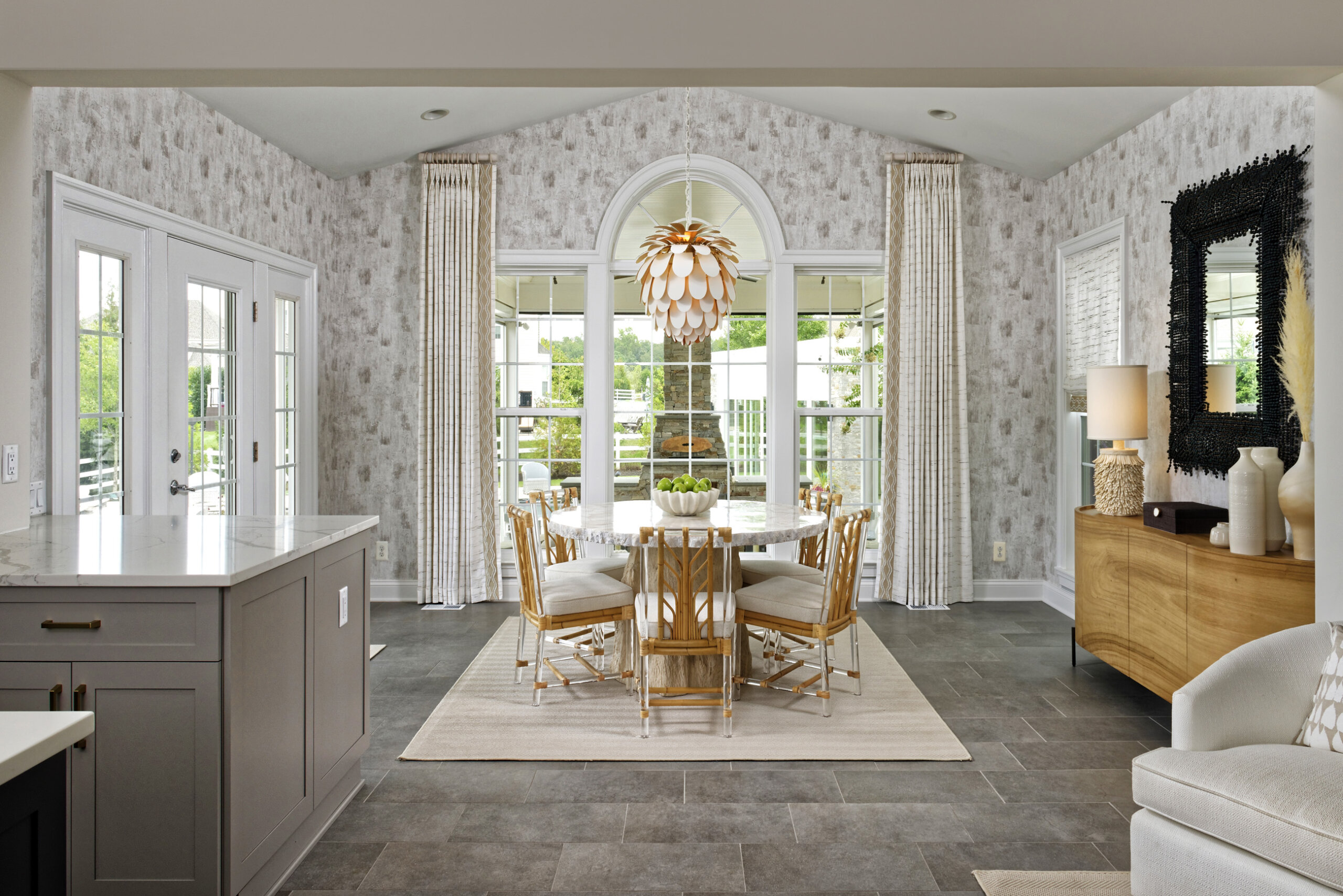 remodeled home addition kitchen breakfast area in northern virginia