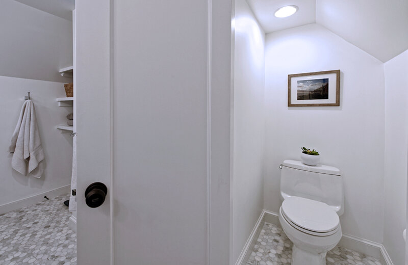 toilet area of large family bathroom